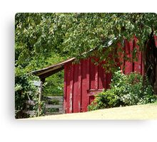 Historic Red Barn Canvas Print