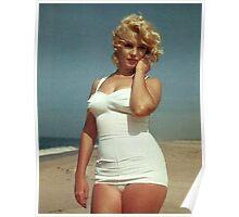 Marilyn Monroe White Swimsuit Poster