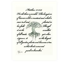 Matthew 13: 31, 32 Mustard Seed Art Print
