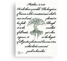Matthew 13: 31, 32 Mustard Seed Canvas Print