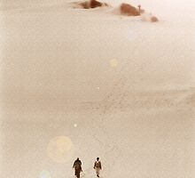 People Walking Across Dunes (3) by SteveOhlsen