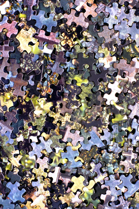 Puzzle Pieces Abstract by SteveOhlsen