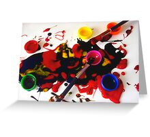 Paint Mess Greeting Card