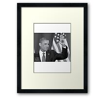 Obama Ink'd Framed Print