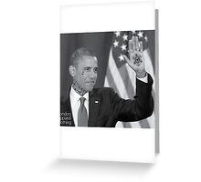Obama Ink'd Greeting Card