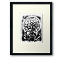 Raging Wolf Framed Print