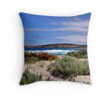 East Mylies beach Throw Pillow