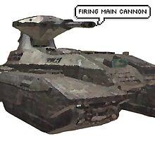 firing main cannon by katefolsom