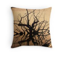 Eerie Tree Throw Pillow