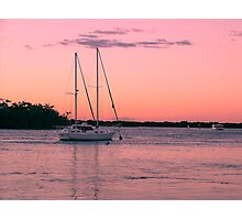 PINK EVENING PARADISE POINT. QLD. Photographic Print