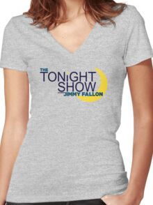 The Tonight Show starring Jimmy Fallon Women's Fitted V-Neck T-Shirt