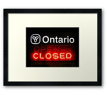 Ontario Closed Framed Print