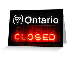 Ontario Closed Greeting Card
