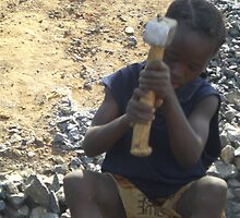 Stone Crusher - Sierra Leone by Martina Nicolls