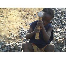 Stone Crusher - Sierra Leone Photographic Print
