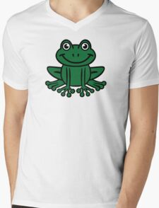 Frog Mens V-Neck T-Shirt