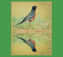 American Robin At Water's Edge Kids Clothes