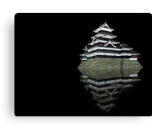 Matsumoto castle by night Canvas Print