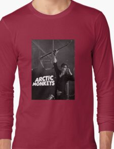alex turner with guitar Long Sleeve T-Shirt