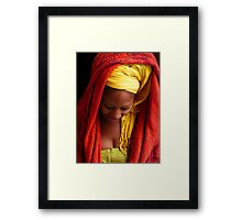 Maxime in Deep Thought Framed Print