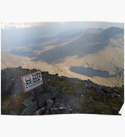 Carrauntoohil summit view Poster