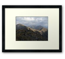 Macgillycuddy Reeks peaks summer view Framed Print