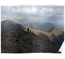 Macgillycuddy Reeks peaks summer view Poster