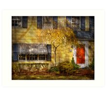 The little yellow house Art Print
