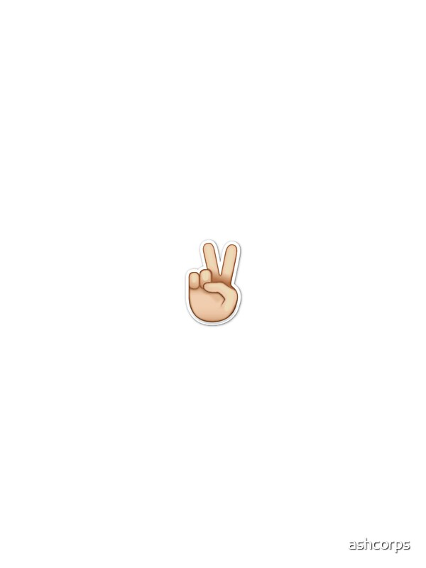 Quot Emoji Peace Sticker Quot Stickers By Ashcorps Redbubble