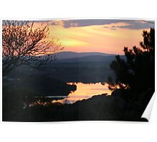 sunset over west lee vallee Poster