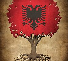 Tree of Life with Albanian Flag by Jeff Bartels
