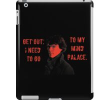 Sherlock, Get Out, Need to go to Mind Palace. iPad Case/Skin