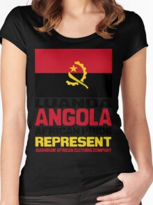 Angola Represent Women's Fitted Scoop T-Shirt