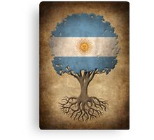 Tree of Life with Argentinian Flag Canvas Print