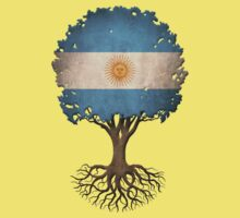 Tree of Life with Argentinian Flag Kids Tee