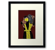 GET OVER HERE AND LISTEN TO THESE DOPE BEATS Framed Print