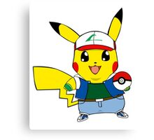 Pikachu as Ash Canvas Print