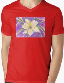 Flagler Beach Daylilly Mens V-Neck T-Shirt
