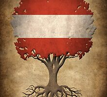 Tree of Life with Austrian Flag by Jeff Bartels