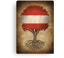 Tree of Life with Austrian Flag Canvas Print