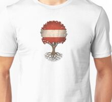 Tree of Life with Austrian Flag Unisex T-Shirt