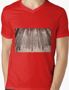 Forest in the Snow Mens V-Neck T-Shirt