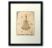 Tribute Guitar Framed Print
