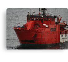 Standby Vessel Esvagt Supporter, central north sea. Canvas Print