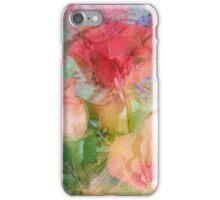 Pastel Impressionistic Romantic Roses iPhone Case/Skin