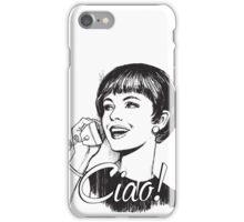 Ciao! - Retro - Woman on landline phone iPhone Case/Skin