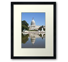 Reflections of US Capitol Dome Framed Print