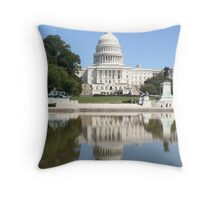 Reflections of US Capitol Dome Throw Pillow