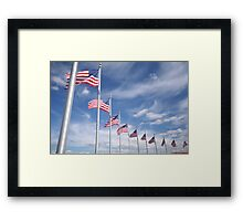 Circle of Stars & Stripes Framed Print