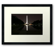 Washington Monument by Night Framed Print